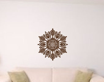 Mandala wall decal, mandala decal, mandala wall art, wall mandala, wall mandala decal, boho decor, boho mandala, mandala art, boho art