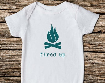 Fired Up - Baby Bodysuit, Outdoor Baby, Baby Clothes, Baby Shower Gift