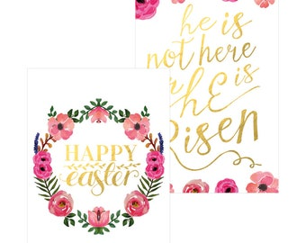 Printable Easter Greeting Card A5 format