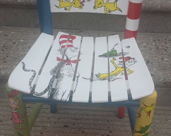 Dr. Seuss The Cat in the Hat Kids Chair/Personalized