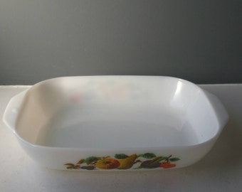 Vintage JAJ Milk Glass Pyrex, Casserole Dish, Serving Bowl, Retro Tableware, Ovenproof Bowl, Vegetable Dish, Cookware, Made in England, Gift