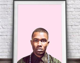 Frank Ocean Poster • Hiphop Poster Frank Ocean Blonde Print Hip Hop Decor Hip Hop Music Wall Art Music Decorations Rap Wall Art Poster