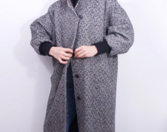 coolest vintage oversized style long coat Women's one size fits most vintage coat