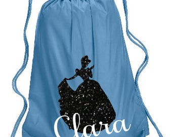 Cinderella Personalized bag, Cinderella Backpack, Disney Trip Kids backpack, Family Vacation Princess Bag, Cinderella Cinch Bag