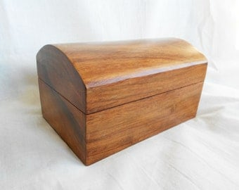 Wooden Jewellery Box, lovely colour hardwood by Past Times