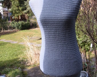 Asymetric knit top, grey, size 36-38 (S-m)