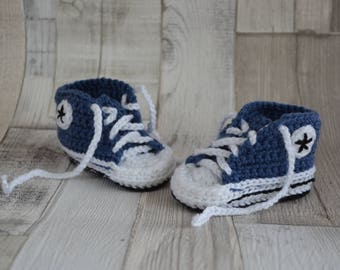 Baby Shoes Sneakers - jeans-blue