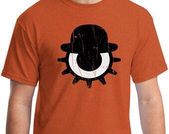 A CLOCKWORK ORANGE  - T-shirt - Stanley Kubrick - Eye and Bowler Hat Design - Cult Classic Film - Screen Printed