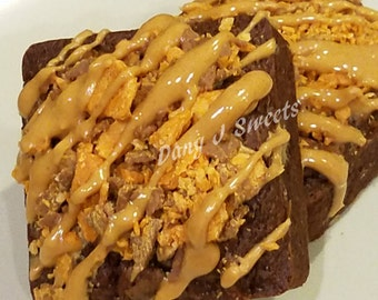 Butterfinger Peanut Butter Chip Brownies *Free Shipping*
