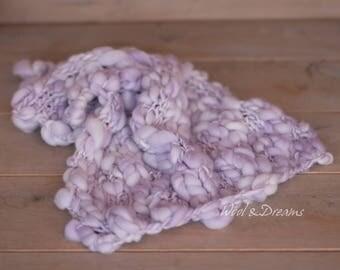 RTS lilac Baby Handspun Blanket  Newborn Photography Prop