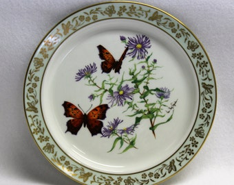 Lenox Plate Butterflies & Flowers. Limited Edition