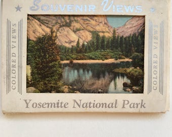 Yosemite National Park  Colored Views Souvenir Cards From The 1950's