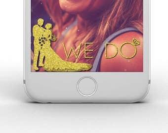 "Gold or Silver Glitter Custom Last Name ""We Do"" Snapchat Geofilter!"