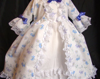 Dress history 18th century style Marie-Antoinette cotton baby