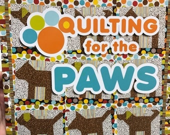 Quilting for the Paws, book of quilt patterns by Karen Duling