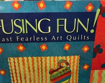 "Fusing Fun: Fast Fearless Art Quilts"" book by Laura Wasilowski - SALE"