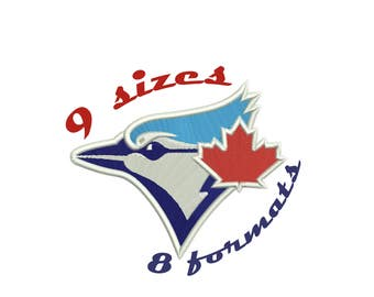 9 Sizes Toronto Blue Jays Inspired Machine Embroidery Designs in 8 formats and 9 sizes