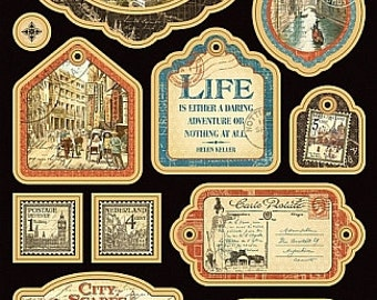 Graphic 45 Cityscapes Chipboard Die Cuts