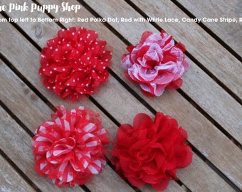 Valentine Dog Flower, Red Dog Flower, Custom Size Loop, Dog Flower, Dog Accessory, Dog Collar Flower