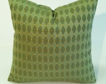 Green pillow cover / green diamond fabric/high end pillow cover/designer pillow/ lumbar pillow/18x18/20x20/bolster cover/Euro /custom made
