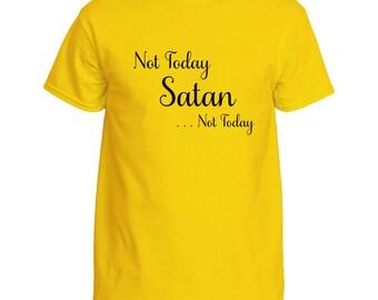 Religious Not Today Satan Shirt