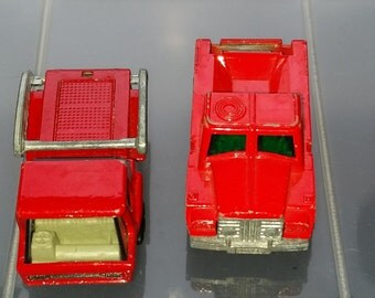 Vintage Diecast Cars Trucks Matchbox Yatming Miniature Collectable Lot of 4