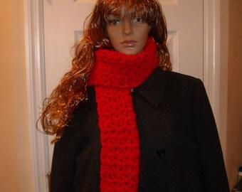 Warm & Red Chunky scarf