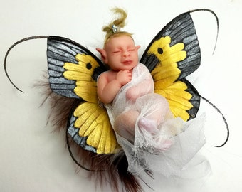 Fairy Baby OOAK art doll, elf, faerie // gifts for her