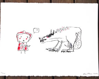 """Sit""""  Hand Pulled Print"""