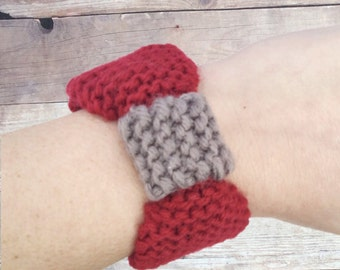 Fitbit Alta Bands, Red Fitbit Alta Bracelet, Gray Fitbit Alta Cover, Fitbit Pocket, Valentines Gift for Girlfriend, Gift for Fitbit User