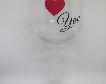 Valentine's 'I Love You' Wine Glass
