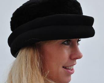 SALE, now 5.00 euro. Hat, hat, Black Hat, vintage hat.