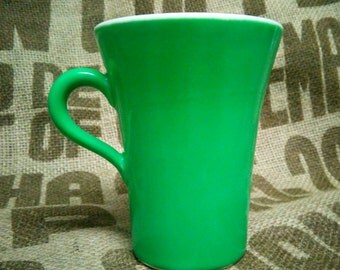 Green Enameled Shenango China Cup