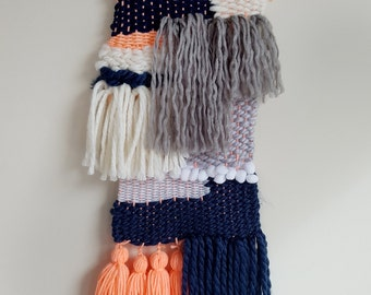 Navy, Fluro Soft Weave - Wall Hanging