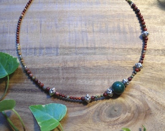 """Firethorn witch"" with Jasper necklace"