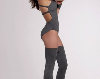 Leg Warmers / Gray Black White Orange Pink Yellow / Extra Long / Over knee / Ballet / Pole Dance / Dance / Twerk / Yoga socks / Legwear