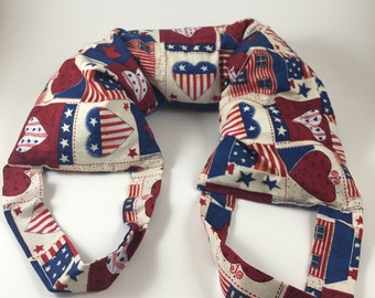 Microwavable Patriotic Neck Pillow