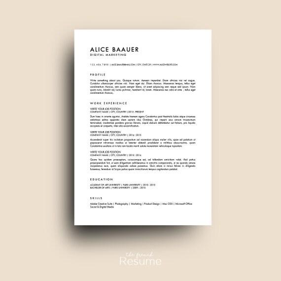 reprendre le gabarit 3 pages    cv couverture lettre
