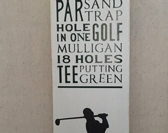 Golf Words Collage Sign