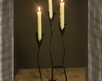 Fully hand forged candleholder
