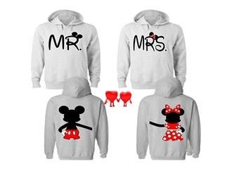 Mickey and Minnie Couple Hoodies Mickey Minnie Sweatshirts