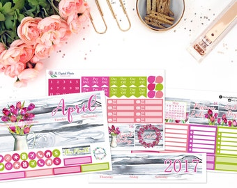 April Monthly Planner Kit || for use with ERIN CONDREN LIFEPLANNER™.