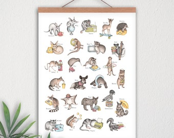 Print A3 - ABC Animal Alphabet