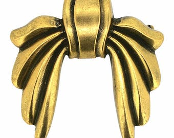 Joseff of Hollywood 1940s Russian Gold Plate Vintage Bow Brooch