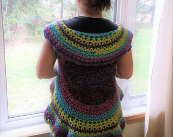 Bohemian Lily Circular Vest Pattern