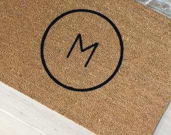 Monogram Doormat - Door Mat With Monogram, Custom Door Mat, Family Name Gift