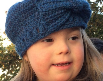 Toddler Crocheted Hat with Bow