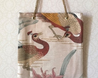 small handbag, vintage fabric