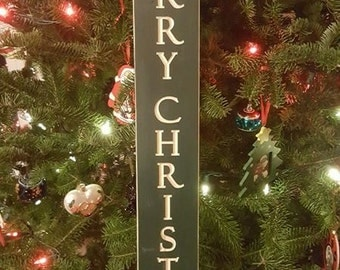 Engraved Merry Christmas Sign