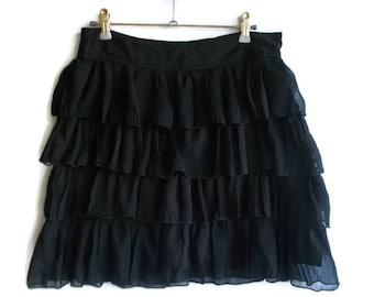Black chiffon skirt   Etsy